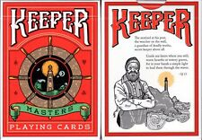 Keeper Red Marked Playing Cards Poker Size Deck USPCC Ellusionist Custom Sealed