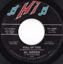 Al Green ORIG US 45 Full of fire VG+ '75 Hi 5N 2300 Memphis Soul Smooth Soul