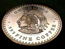 Mexico Mayan Aztec Calendar Prophecy~1 OZ.Copper Round .999~Silver Dollar Size