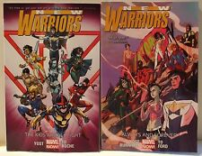 New Warriors The Kids Are All Fight Always 1 & 2 PB Graphic Novel Comic Book Lot