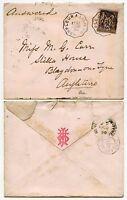 FRANCE TPO HONFLEUR A LISIEUX 1890 on 25c PEACE + COMMERCE
