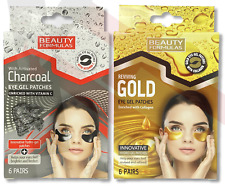 EYE Gel Patches CHARCOAL GOLD Collagen Crystal Gel Pad Face Anti Aging Wrinkle