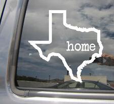 Texas State Home Outline - USA America - Car Vinyl Die-Cut Decal Sticker 07002