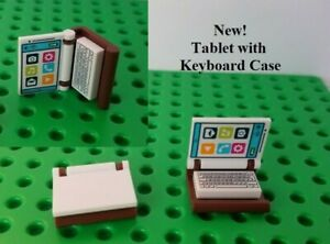 New Lego Tablet Notepad Notebook Minifigure Book Computer Screen with Keyboard