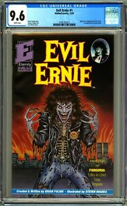 EVIL ERNIE #1 - CGC 9.6 - NM+ WP 1ST EVIL ERNIE & LADY DEATH - BRIAN PULIDO