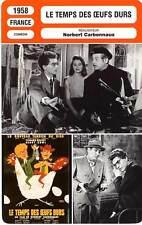 FICHE CINEMA : LE TEMPS DES OEUFS DURS - Gravey,Cowl 1958 Hardboiles Egg Time