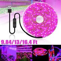 USB LED Strip Grow Light Lamp Full Spectrum For Plant Veg Flower Indoor DC 5V