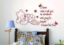 Winnie The Pooh Guardería Pegatinas De Pared Calcomanía Decoración para personalizado de cotización de aventura