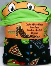 Nickelodeon TMNT Teenage Mutant Ninja Turtles Hooded Footed Pajamas S M L or XL