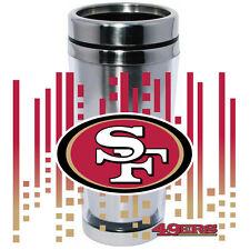 San Francisco 49ers Logo Travel Mug Tumbler Stainless Steel NEW Clear Insert