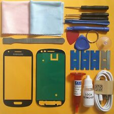Samsung Galaxy S3 Mini Front Glass Screen Replacement Repair Kit PEBBLE BLUE