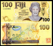 Fiji $ 100 ONE HUNDRED DOLLARS ND 2007 P-114 (2012)  QE II BANKNOTE UNC