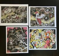 8.5x11 Set #7 PSYCH Signed prints By Frank Forte Pop Surrealism Cartoon Dark Art