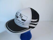 Vintage 3 STRIPE Snapback Trucker Hat Cap THE GIRLS INC Truck Line Dodge City KS