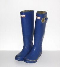 Hunter Boots Womens Size 5 Tall Outdoor Rubber Rain Boots Shoes Blue Yellow
