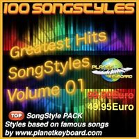 Yamaha Genos Styles PSR-SX900 SX700 GREATEST HITS SONGSTYLES VOL 01 Song Styles