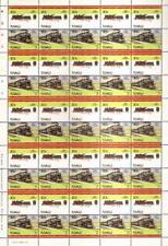 1907 FS Class 640 2-6-0 Italy Train 50-Stamp Sheet / LOCO 100 LOTW