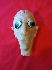 Vintage Puppet Head. made of clay
