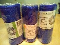 New Lot of 3 Deco Mesh Royal Blue 6 in x 5 yds holiday team sports Christmas