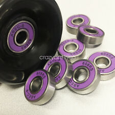 8pcs ABEC 9 608RS Bearings Purple Sealed Skate Boards Scooters Skateboard Parts