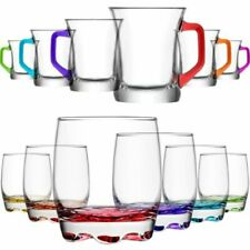 Set di bicchieri in vetro trasparente