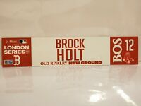 Brock Holt Game Used Red Sox 2019 London Series Locker Tag MLB Authenticated