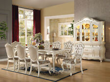 VALIANT 9 piece Traditional Pearl White Dining Room Set - NEW Rect Table Chairs