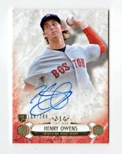 HENRY OWENS MLB 2016 TOPPS TIER ONE BREAKOUT AUTOGRAPHS #/249 (BOSTON RED SOX)