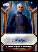 2020 Star Wars Holocron Auto Orange #A-IA Ian Ruskin as Chancellor Valorum /25