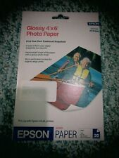 EPSON Glossy Photo Paper 4x6 S041134 52 lb 20 sheets 99 brightness iso ink jet