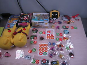 Lot of Pokemon Stuff ~ Dice, Tokens, Plush, Figures