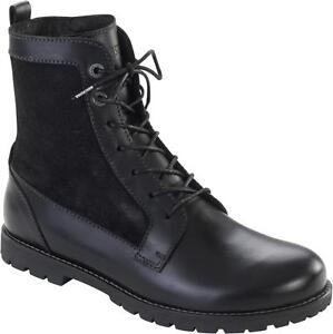 BIRKENSTOCK SHOES GILFORD HIGH BLACK WOMEN'S ANKLE BOOTS LEATHER LACE-UP UNISEX