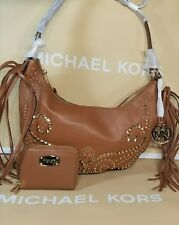 Michael Kors Rhea small slouchy shoulder cross body bag and wallet brown