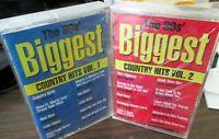 80's BIGGEST Country Hits Vol 1+2 SEALED CASSETTES Strait/McEntire/Oak Ridge etc