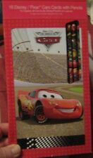 Disney Pixar Cars Valentine's Cards for Kids with Pencils~New