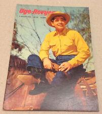 CLARK GABLE MGM FRONT COVER VIVEKA SEGERSKOG BACK COVER VTG Danish Magazine 1955