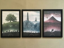 """3pcs Solid frame - 002 Lord Of The Rings 12""""x16"""" Minimalist Wall Decor Poster"""