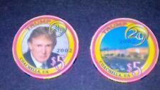 Trump 29 Casino Chip/Set of 2/ $5 Donald Trump 2002 Coachella Ca