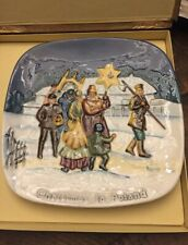 """Collectible Decorative Royal Dalton Plate """"Christmas In Poland�"""