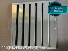 LOBO Heavy Duty Stainless Steel Canopy Extraction Grease Baffle Filter 445x445mm