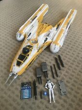 Star Wars The Clone Wars Custom Painted Y-Wing with Clone Pilot Goji COMPLETE