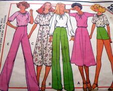 *Lovely Vtg 1970s Top, Skirt, & Pants Sewing Pattern 10/32.5