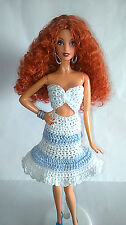 """Vestido Crochet Ropa Barbie, Fashion Royalty, Poppy Parker, Dolls 12"""" New"""