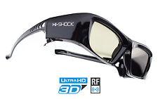 """Attivo Shutter Occhiali 3d """"Black Diamond"""" per proiettore di EPSON JVC, Sony HW 65"""