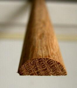"""27 Half round oak molding trim pieces 48"""" x 3/4"""" x 5/16"""" for Rolltop Desk slats"""