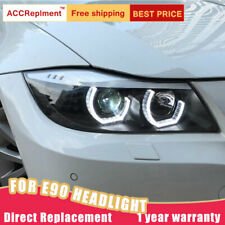 2PCS For BMW E90 2005-2015 Headlights assembly Bi-xenon Lens Projector LED DRL