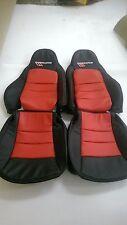 2005-2011 C6 Corvette Genuine Leather Black & Red Grand Sport Seat Covers