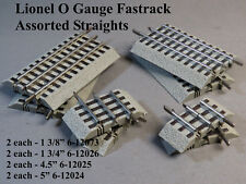 LIONEL FASTRACK ASSORTED STRAIGHT TRACK O GAUGE train 6-12073 12026 12025 12024