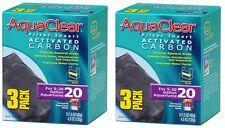 (2) AQUACLEAR 20 ACTIVATED CARBON 3PKS. 6 TOTAL