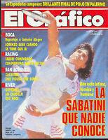 TENNIS GABRIELA SABATINI CHAMPION US Open 1987 Magazine